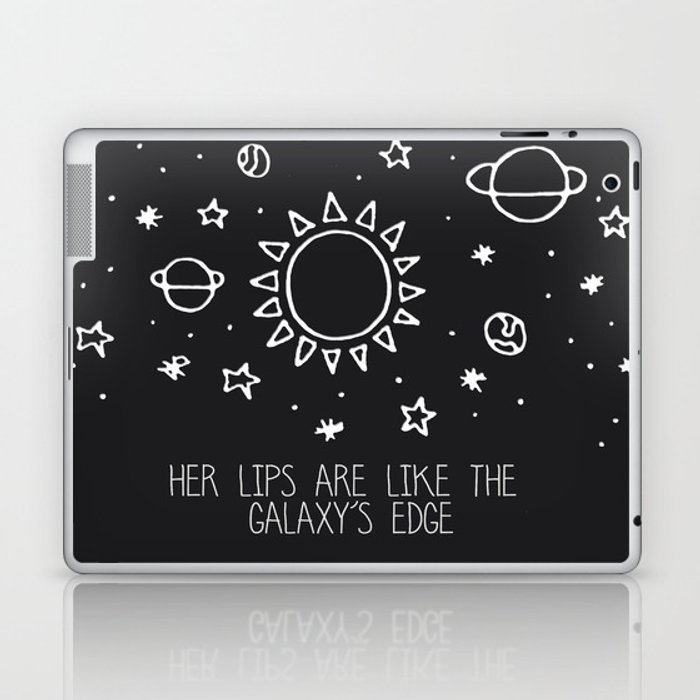 Her lips are like the Galaxy's edge Laptop & iPad Skin