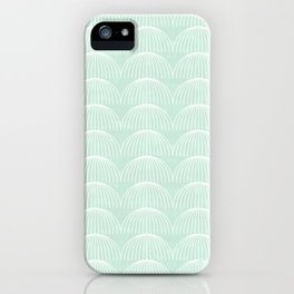 Geometric Umbrellas by Friztin iPhone Case