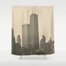 John Hancock Building Downtown Chicago Illinois Color Photo Shower Curtain