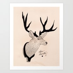 Deerhunter Art Print
