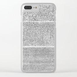 The Rosetta Stone Clear iPhone Case