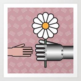 Robot frankenstein Art Print