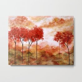 Burning Promise, Abstract Landscape Art Metal Print