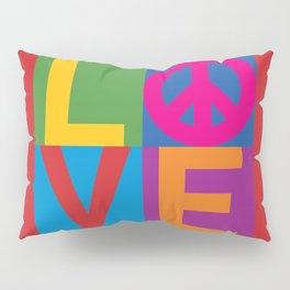 Love Peace Color Blocked Pillow Sham