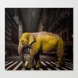 Elephant in New York Canvas Print