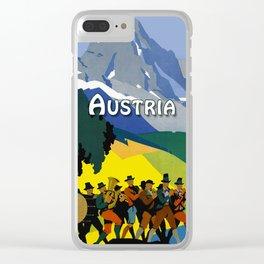 Austria - Vintage Travel Ad Clear iPhone Case