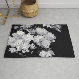 Flowers Black & White. Rug
