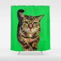 will ferrell Shower Curtains featuring Ferrell by gretzky