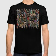 Star Wars Vintage Figures Collage LARGE Black Mens Fitted Tee