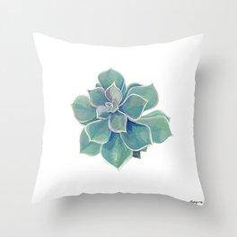 california rock rose succulent Throw Pillow