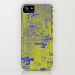 New York Buildings - Green iPhone Case