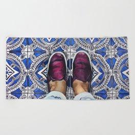 Art Beneath Our Feet - Ancona, Italy Beach Towel