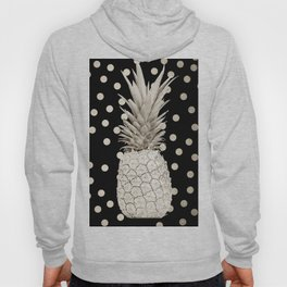 Gold Pineapple Polka Dots 3 Hoody