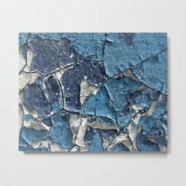 Blue Crumble Metal Print