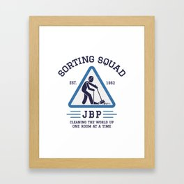 Jordan Peterson - Sorting Squad Framed Art Print