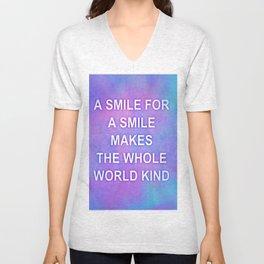 A smile for a smile... Unisex V-Neck