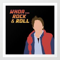marty mcfly Art Prints featuring Marty McFly by Christina