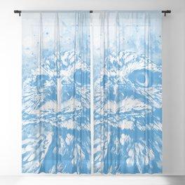 owl portrait 5 wswb Sheer Curtain