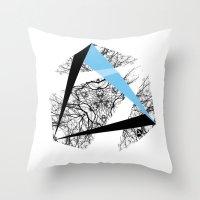 hexagon Throw Pillows featuring Hexagon by ADGPC