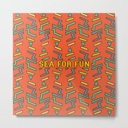 Sea for fun (red) Metal Print
