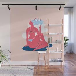 Yoga Girls 3 Lady of the Fishes Pose Wall Mural
