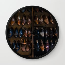 Italian Leather Shoes Wall Clock