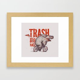 Trash BIG RACE Framed Art Print