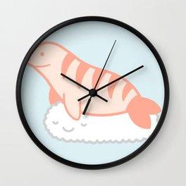 Shrimp nigiri cloud seal Wall Clock