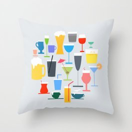 Time to Drink Throw Pillow