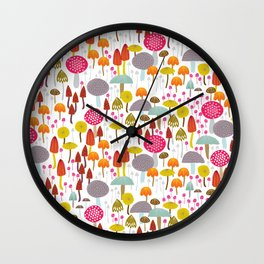 Toadstools and mushro Wall Clock