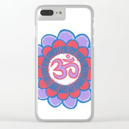 om 7 Clear iPhone Case
