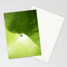 The Hearts Rain Drop - Green Stationery Cards