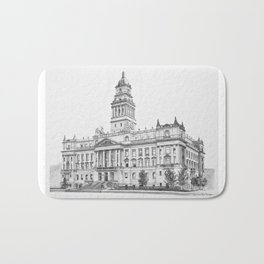 Wayne County Court House | Detroit Michigan Bath Mat