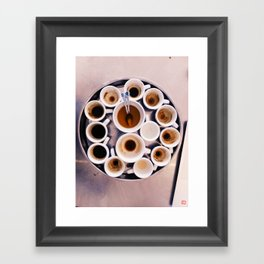 Espresso Cupping Framed Art Print
