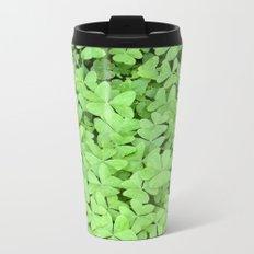Green Clovers Metal Travel Mug