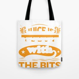 Juice Lover Juice is Better with the Bits Tote Bag