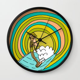 the path to groovy // lady slide by surfy birdy Wall Clock