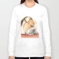 english bulldog Long Sleeve T-shirts featuring English bulldog Alfie by Pendientera