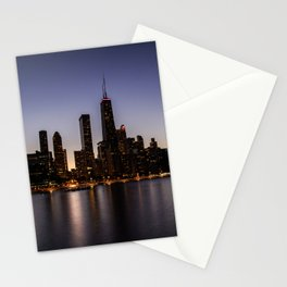 The Sunset in Chicago Stationery Cards