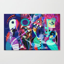 Night life, Wassily Kandinsky inspired geometric abstract art Leinwanddruck
