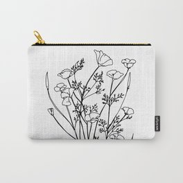 Cali Poppy Carry-All Pouch
