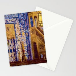 Islamic Masterpiece 'Interior of the Mosque' by Jéan Leon Gerome Stationery Cards
