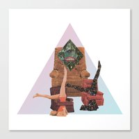 workout Canvas Prints featuring Cosmic Workout by Bopha & Gabe