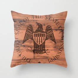 Mississippi State Seal Brand Throw Pillow