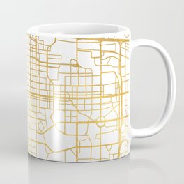 DENVER COLORADO CITY STREET MAP ART Coffee Mug