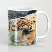 tigers Mugs featuring Tigers by Irene Jaramillo