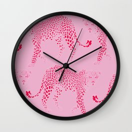 Pink Panthers Wall Clock