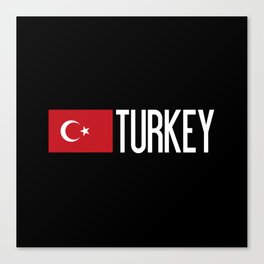 Turkey: Turkish Flag & Turkey Canvas Print