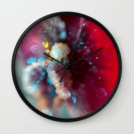 Crystal Orchid Sparkles Wall Clock