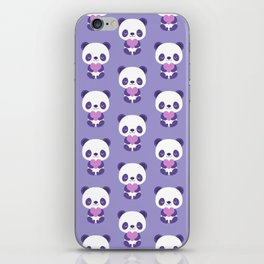 Cute purple baby pandas iPhone Skin